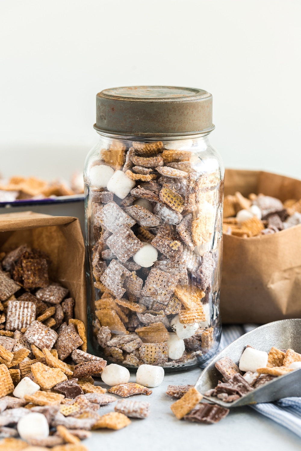 Puppy Chow in Jar