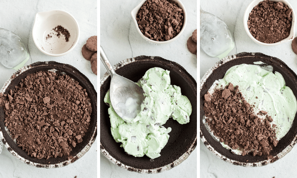 steps to make frozen mint pie