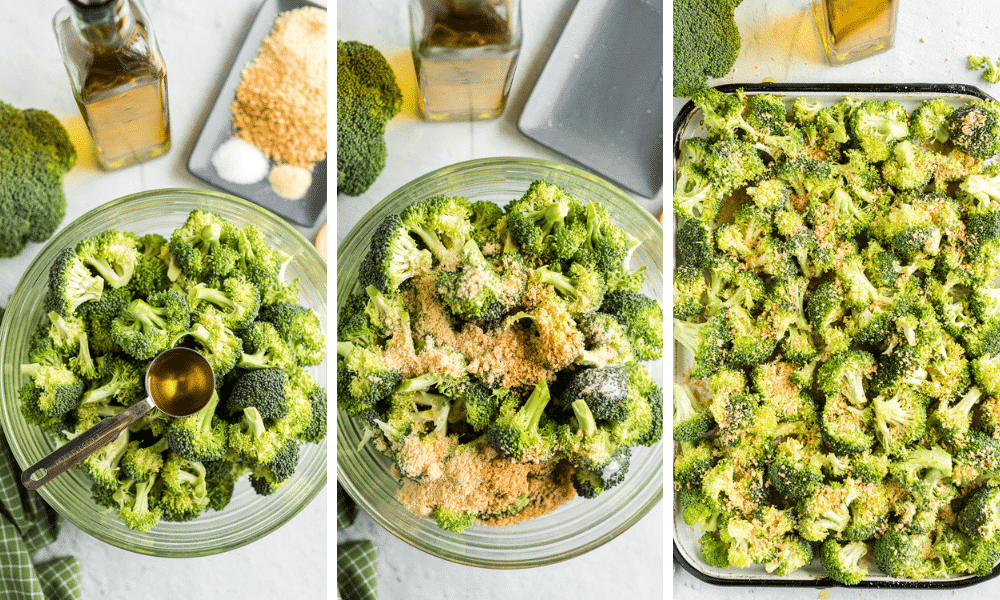 Process to make Roasted Parmesan Broccoli