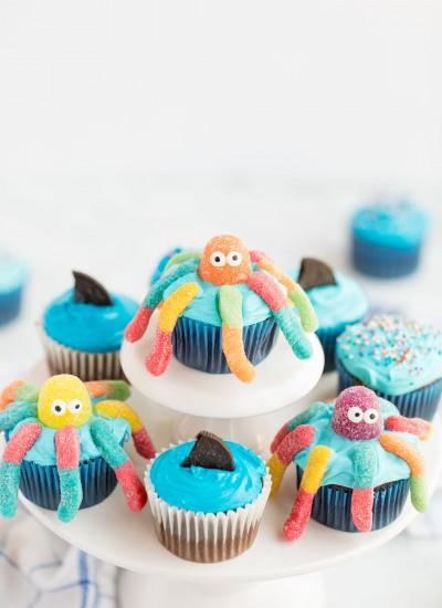 octopus kids cupcakes