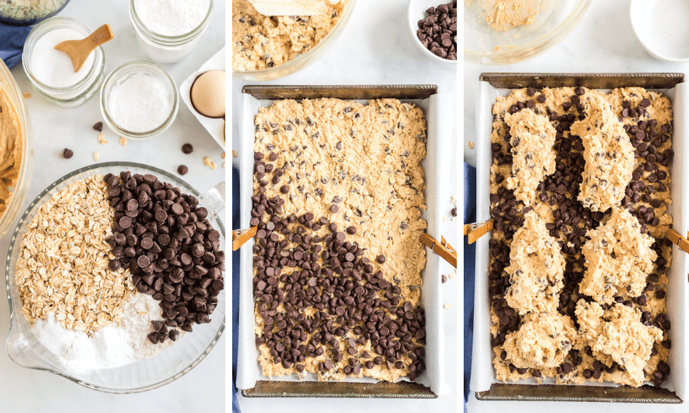 cookie bars process