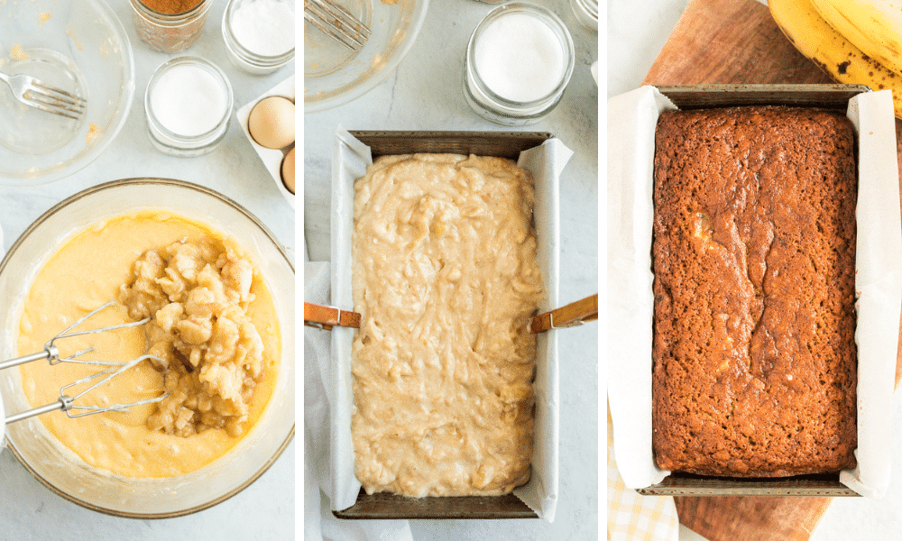 process to make banana bread