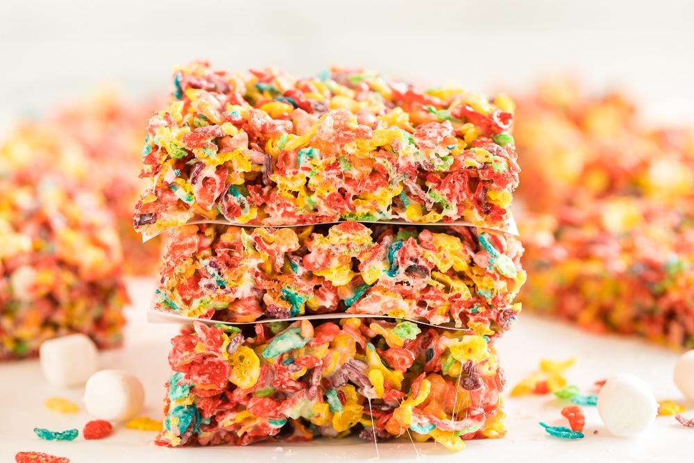 servings of fruity marshmallow treats