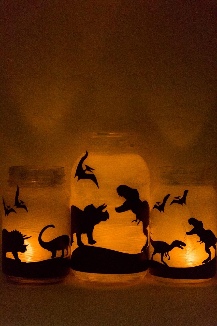 jars glowing in the dark