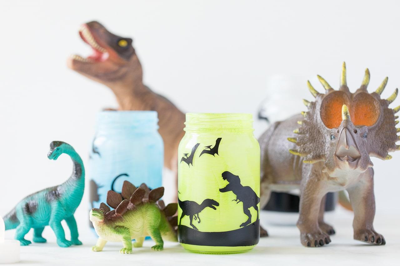 Silhouette Dinosaur Jars