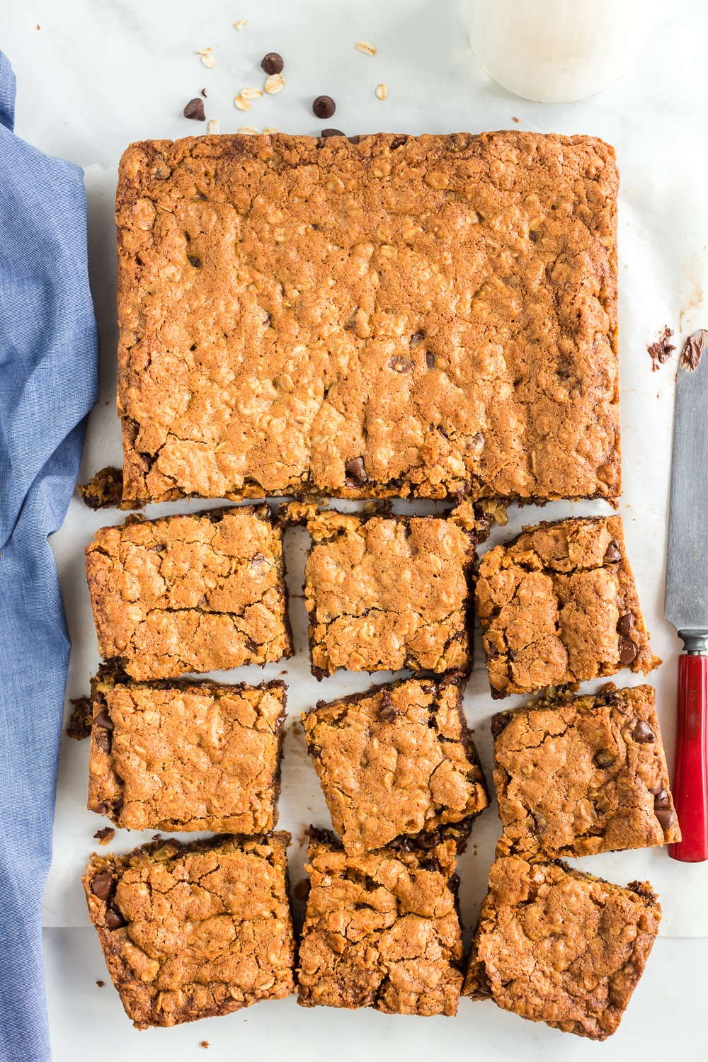 chocolate chip oatmeal cookie bar recipe