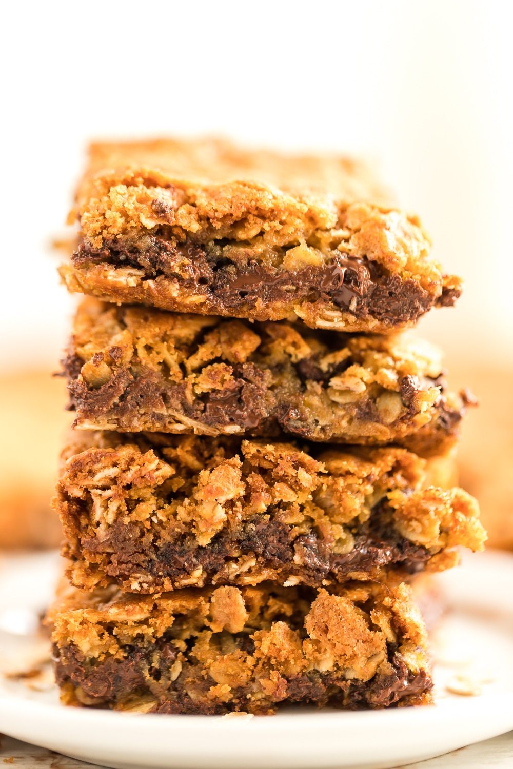 cookie bars stacked
