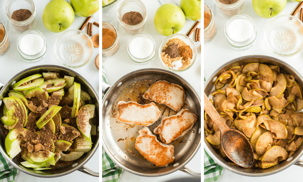 Process to make Apples and Pork Chops