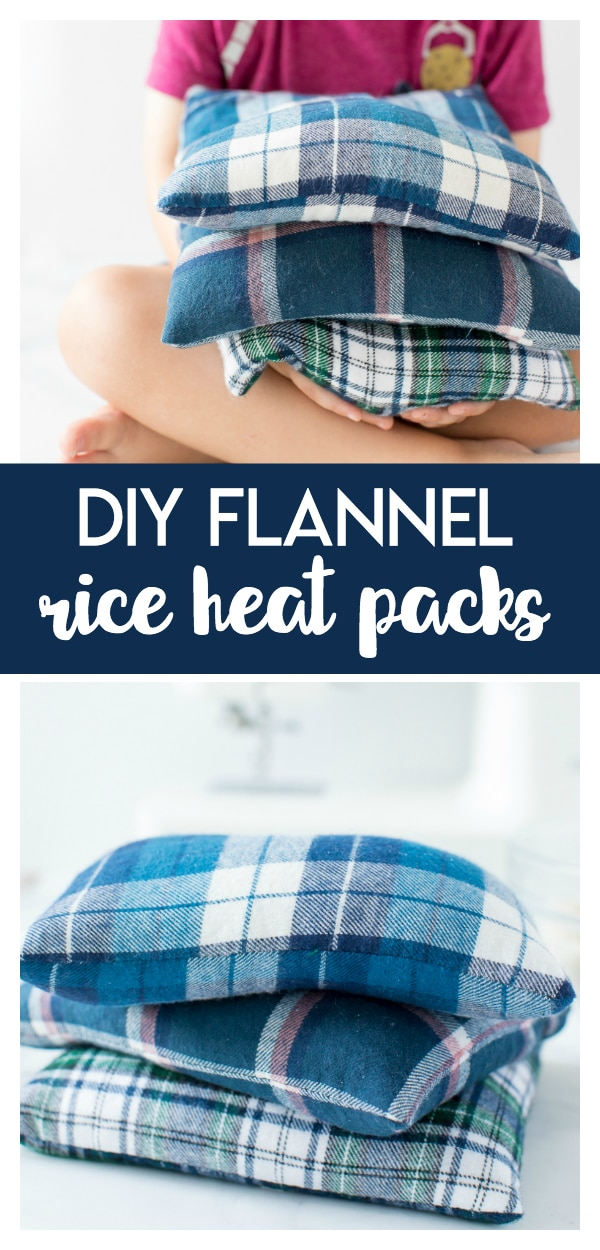 DIY Flannel Rice Heat Packs are easy to make, uses simple supplies, and make great gifts for those feeling under the weather.