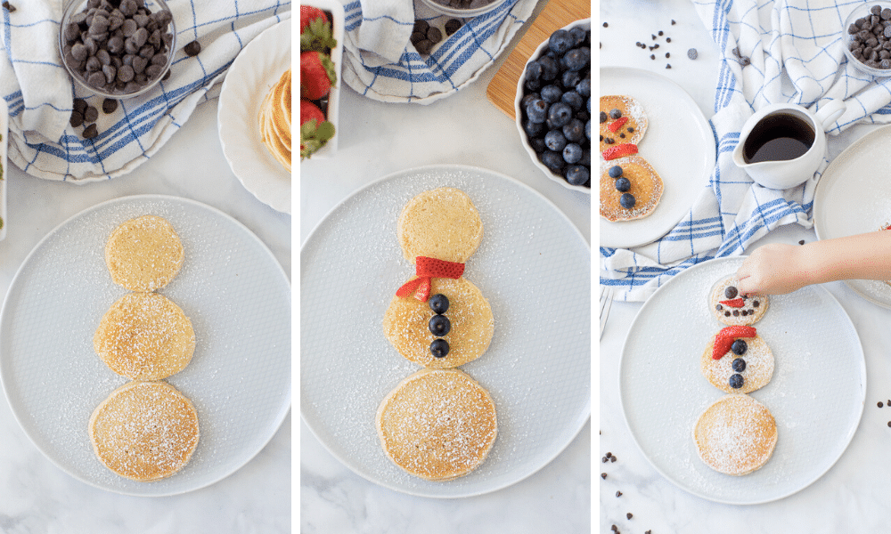 how to make a snowman pancake