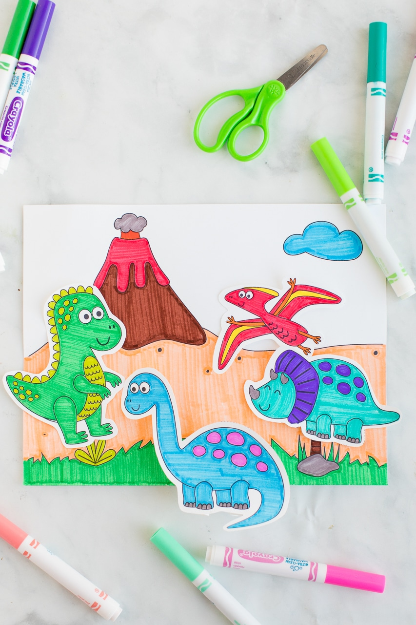 Dinosaur Coloring Activity