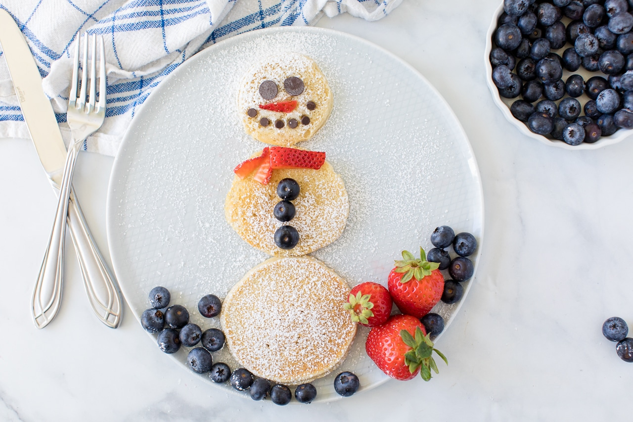 Kid Friendly Snowman Pancake
