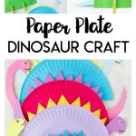 Paper Plate Dinosaur Collage and Pinterest Text