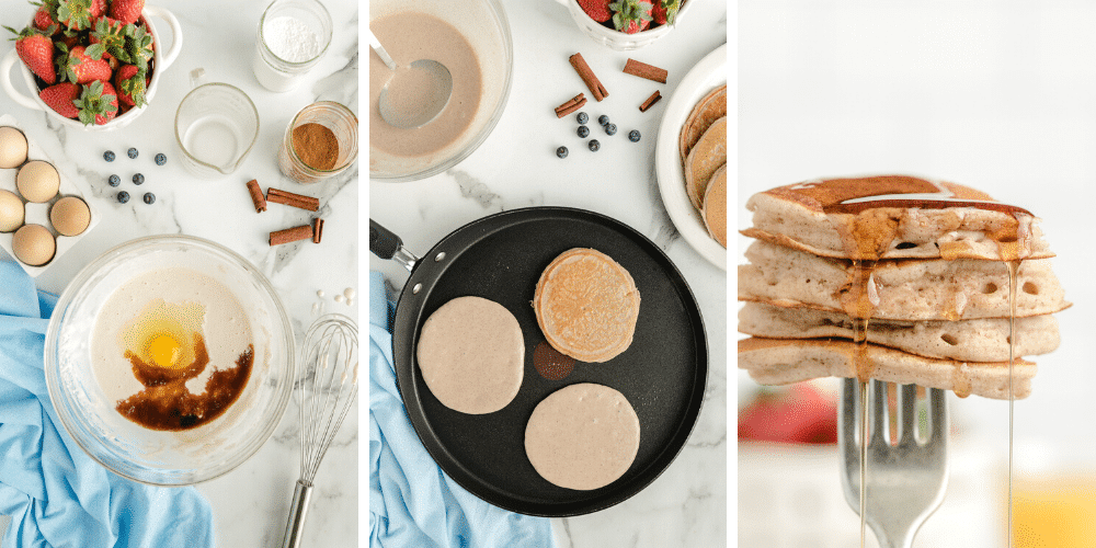 How to mix and cook easy fluffy pancakes