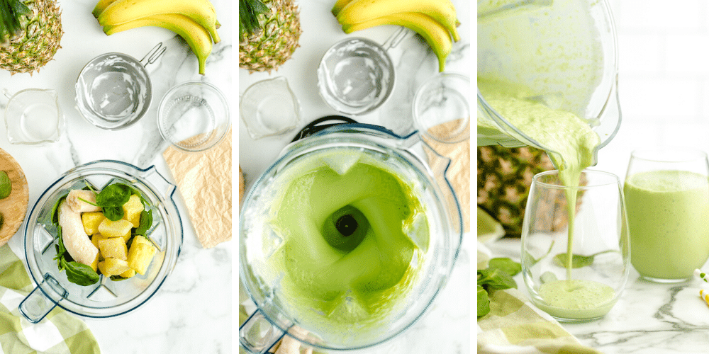 How to make Pineapple Green Smoothie