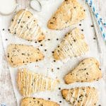 Chocolate Chip Scones served with milk