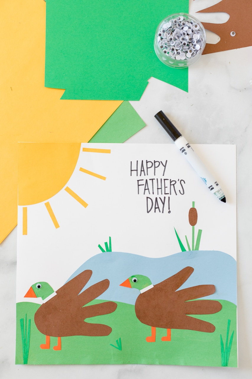 Father's Day Handprint Duck Card