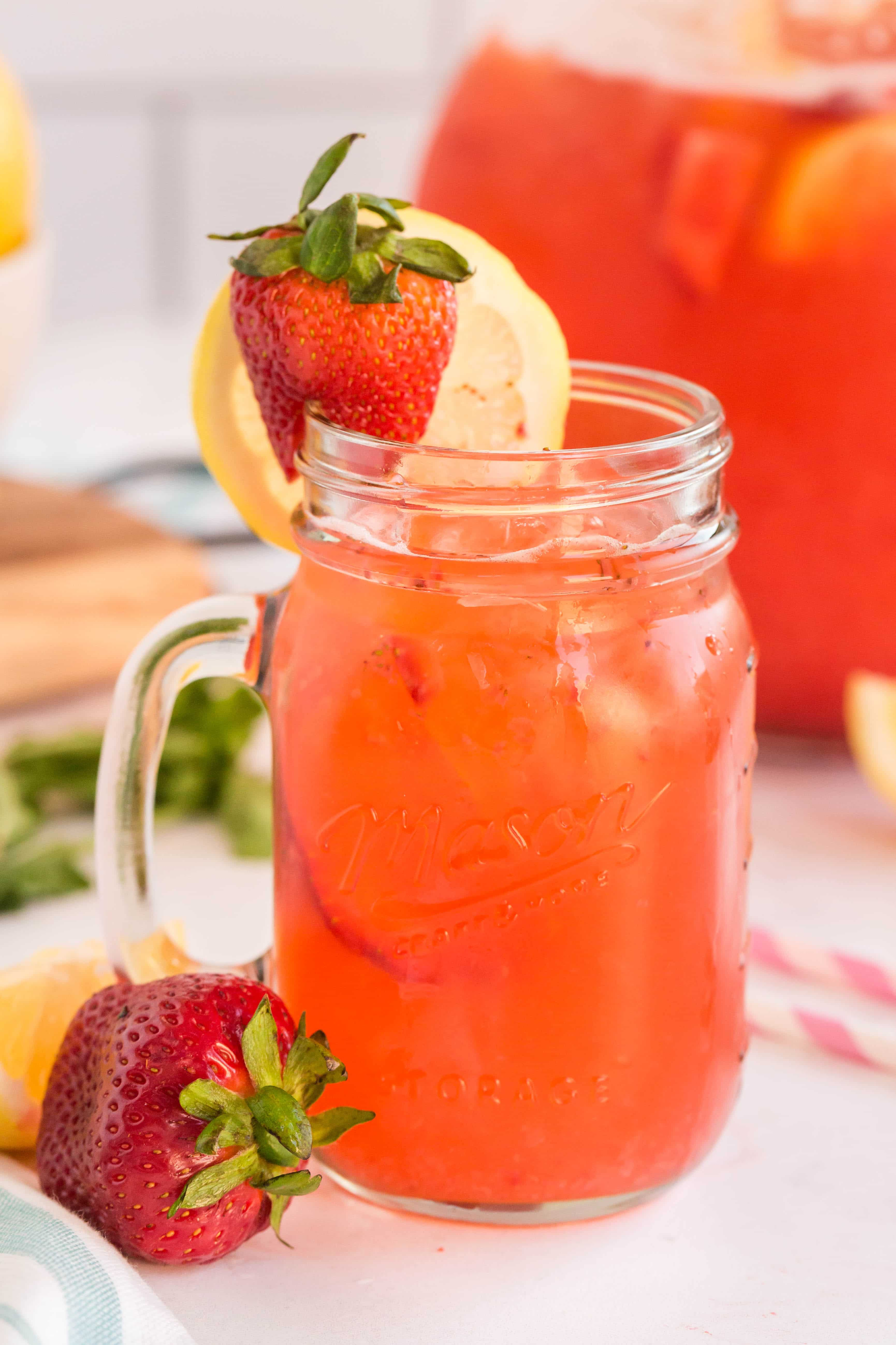 single serving of strawberry lemonade