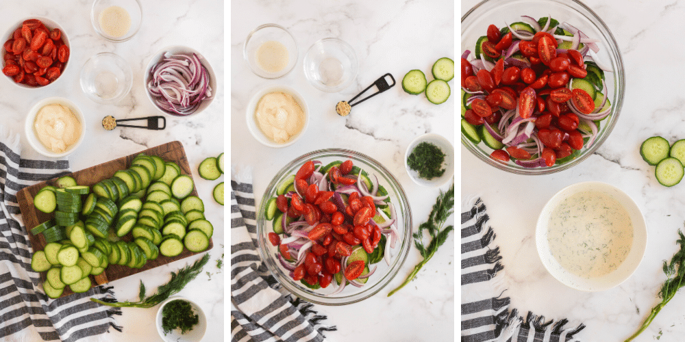 slice cucumbers in coin shapes