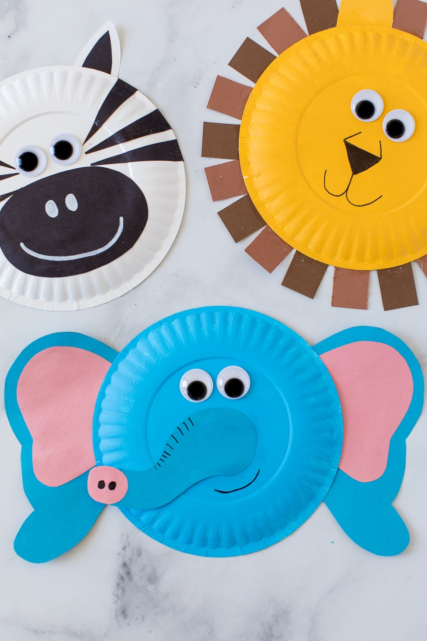 Paper Plate Jungle animals Flay Lay