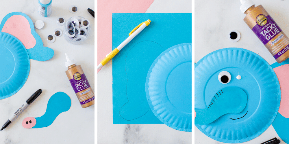 how to make paper plate elephant