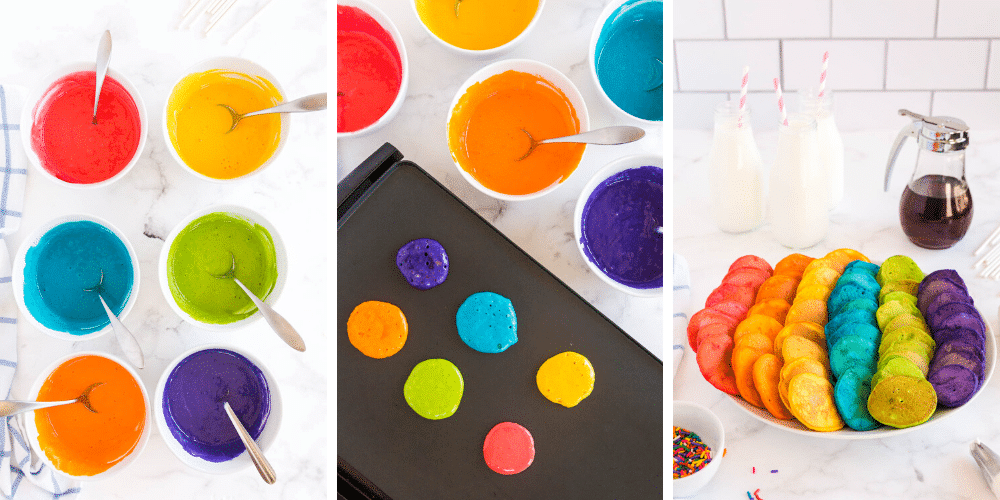 How to Make Rainbow Pancake Pops