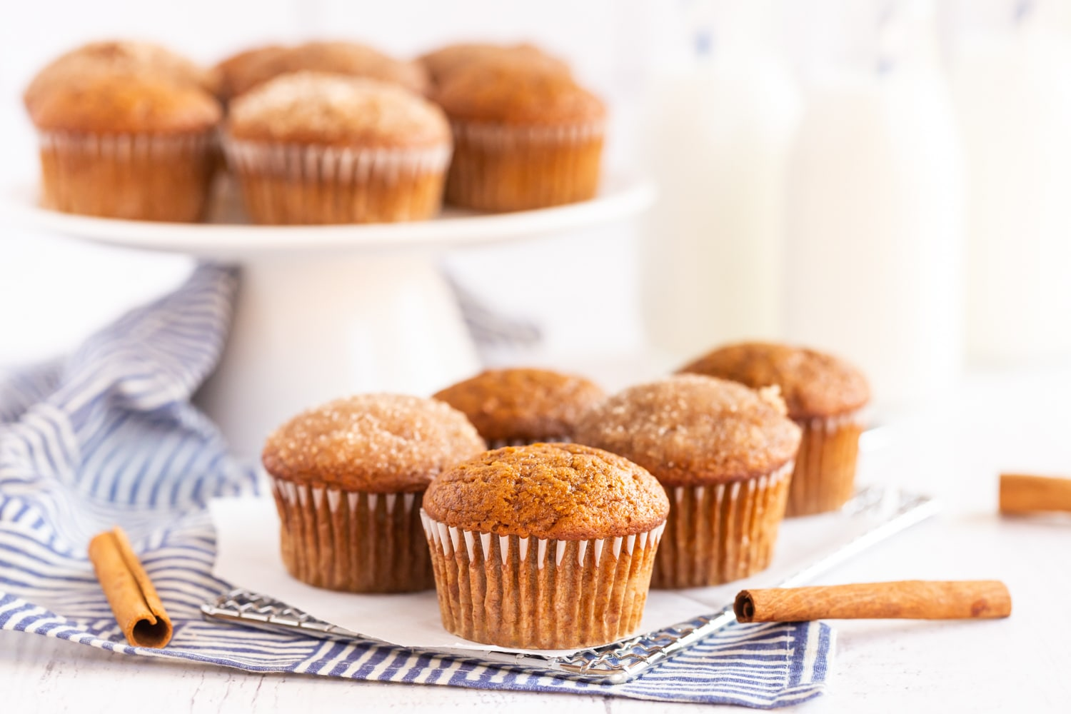 muffins with sugar topping and plain