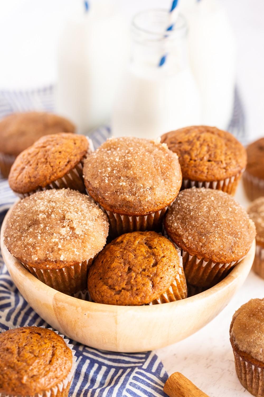 Pumpkin Muffins in a serving bowl