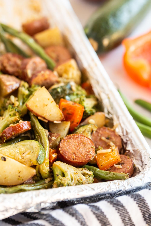 sheet pan veggies and potatoes
