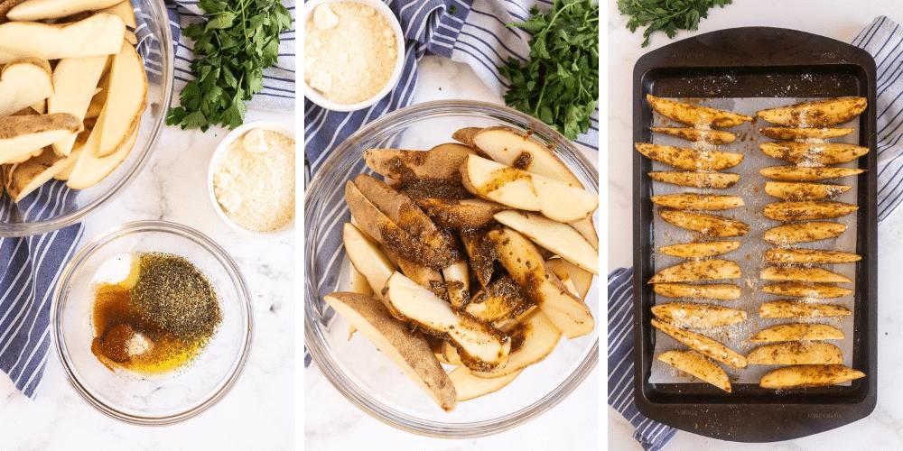 steps to make potato wedges