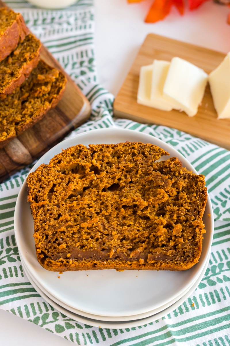 delicious pumpkin bread on plate