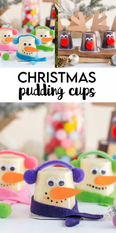 Christmas Pudding Cups are such a festive Christmas craft- great as a pre-packaged gift to pass in the classroom or small party favors!