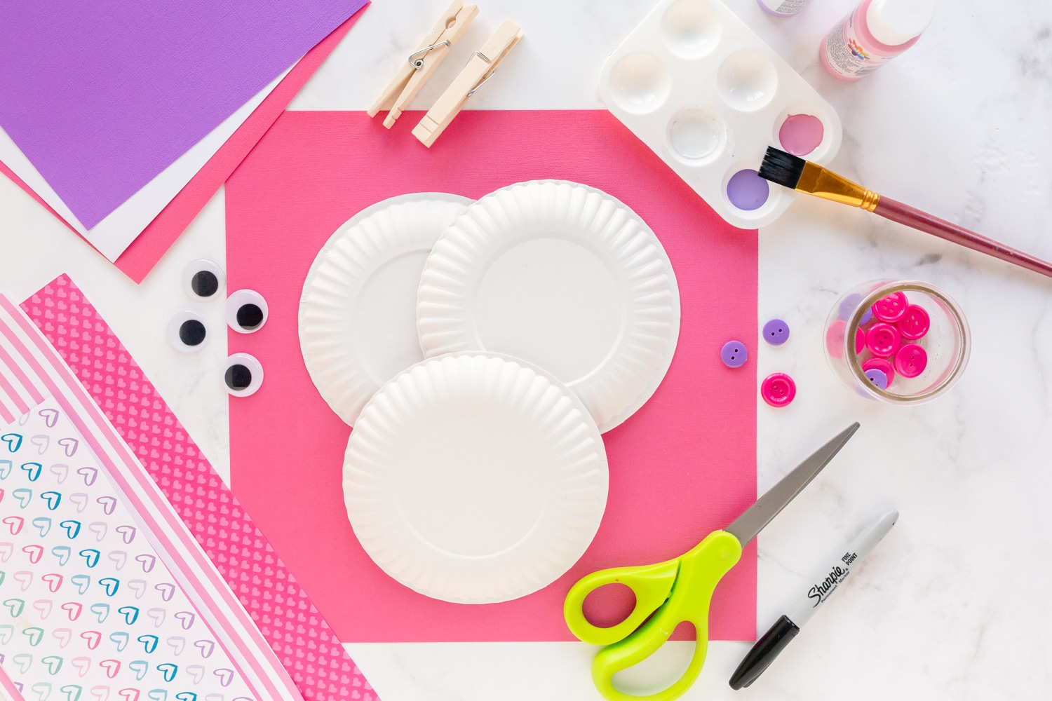 supplies needed for paper plate