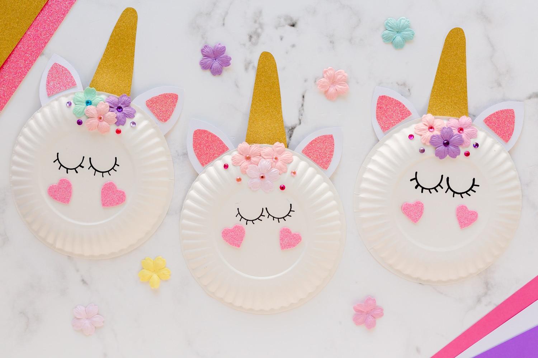 three finished unicorns