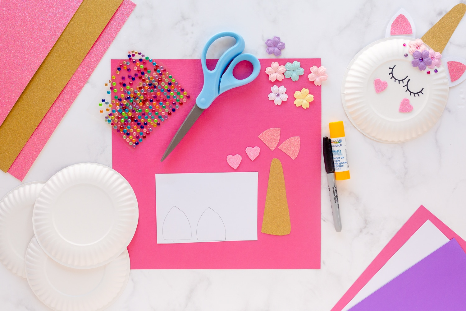 supplies needed for paper plate craft