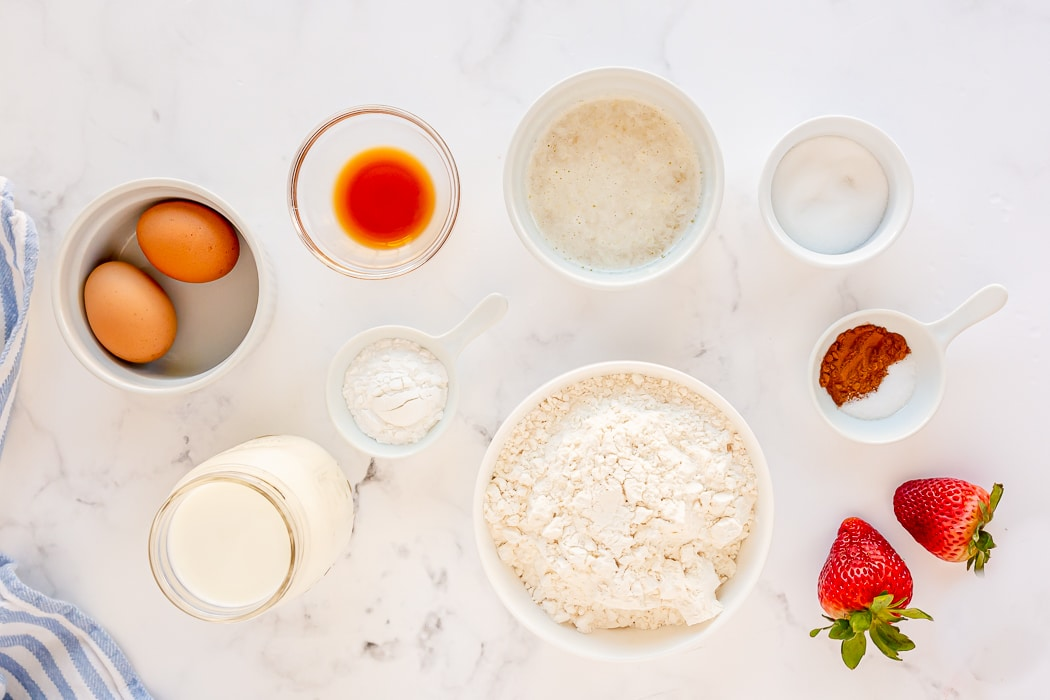 ingredients needed for homemade waffles