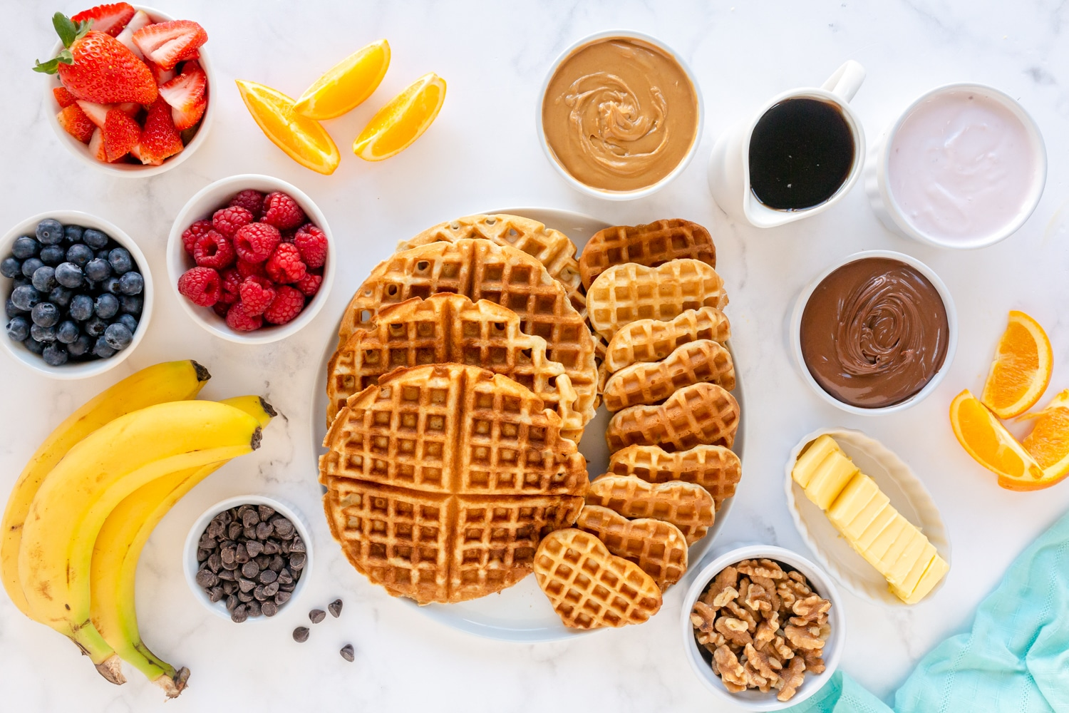 cooked waffles