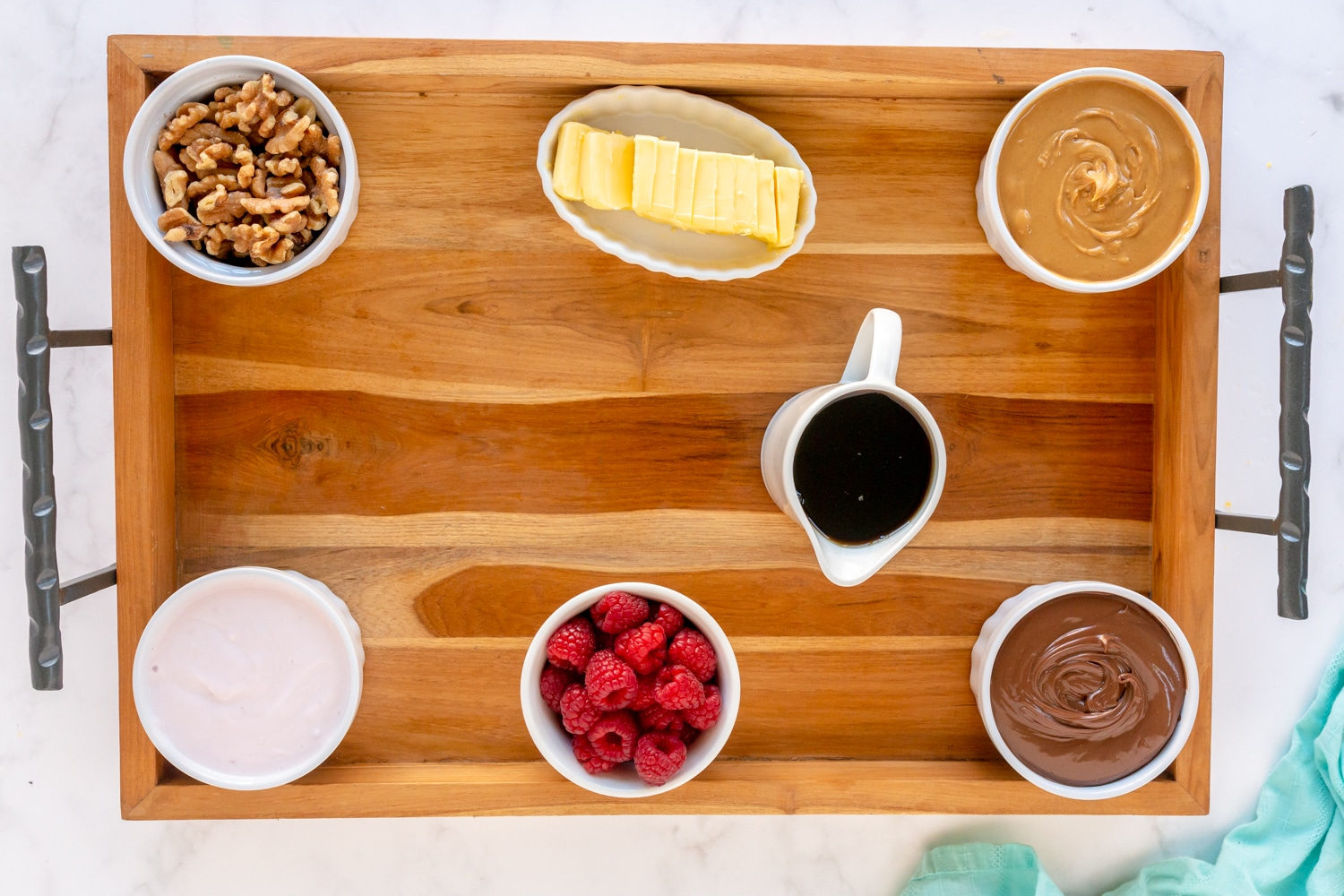build your own waffle board with toppings