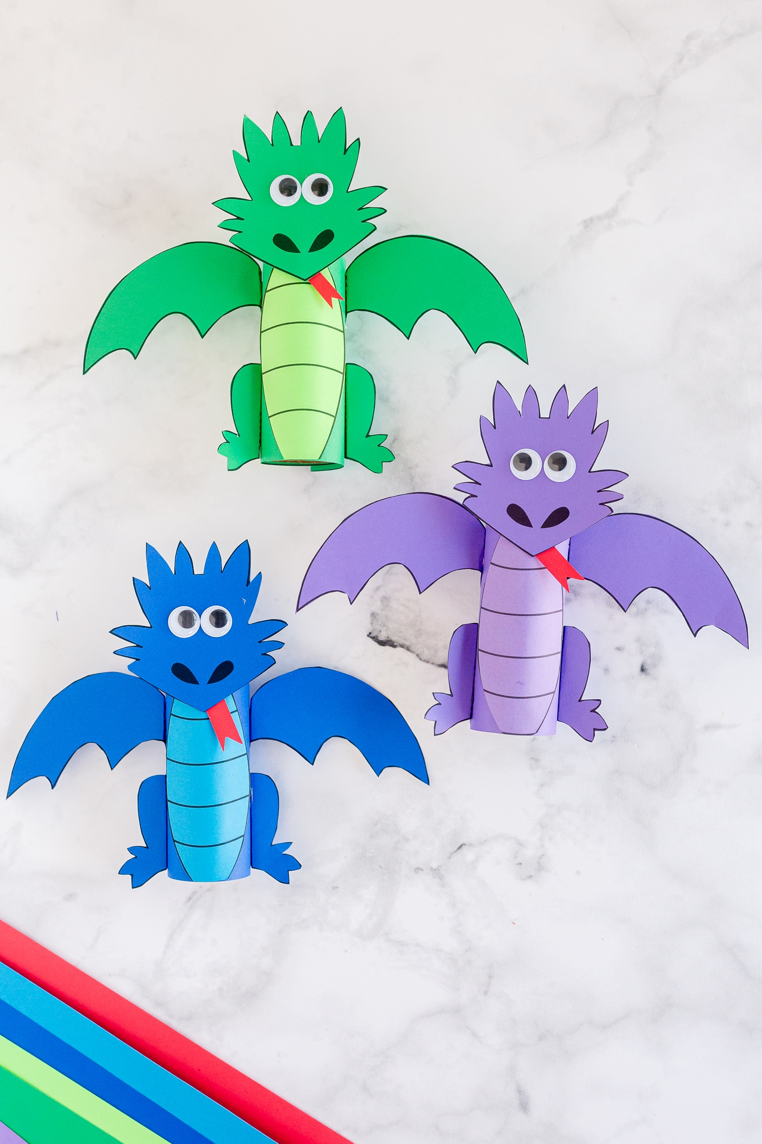 Dragon paper roll crafts