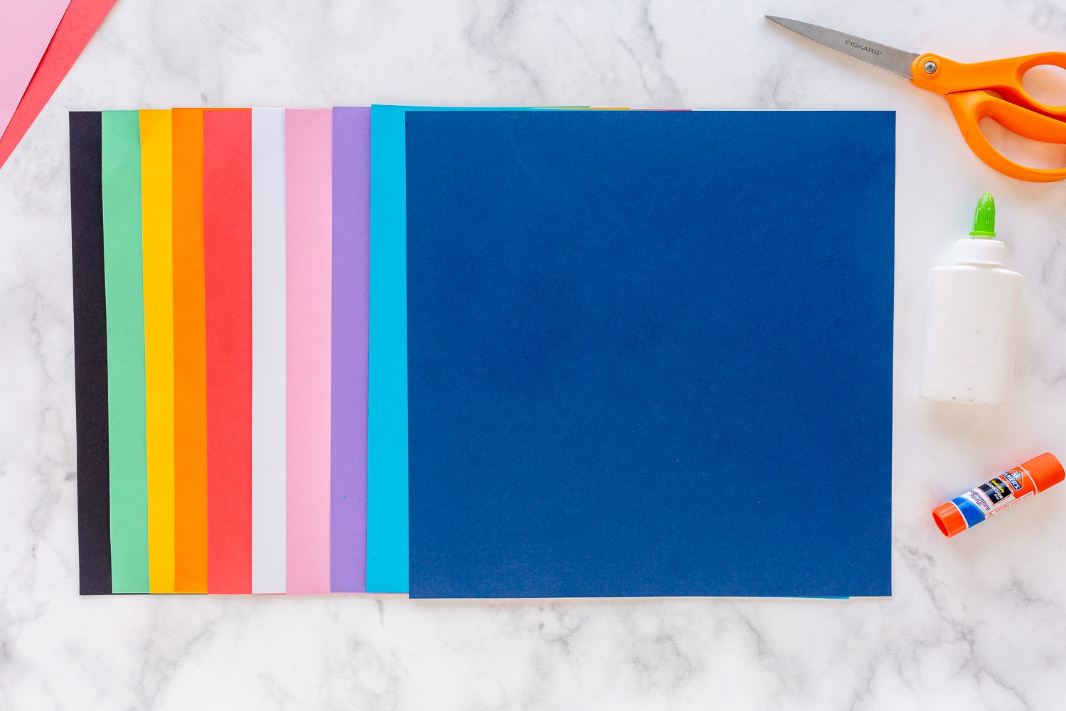 colorful card stock paper