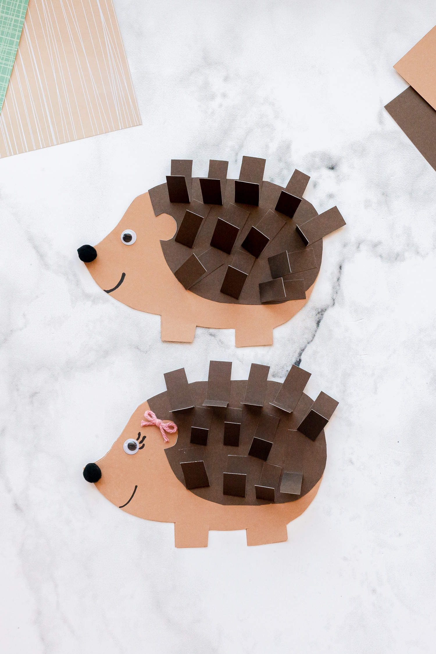 This hedgehog card makes for an adorable and easy homemade Father's day card! Grab the free template to make this project a breeze with the little ones.
