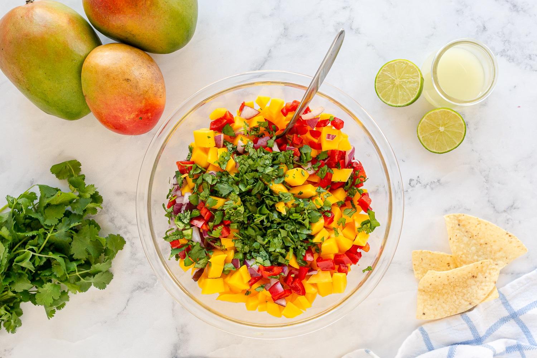salsa with cilantro or parsley