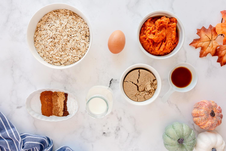 pumpkin pie oatmeal ingredients needed
