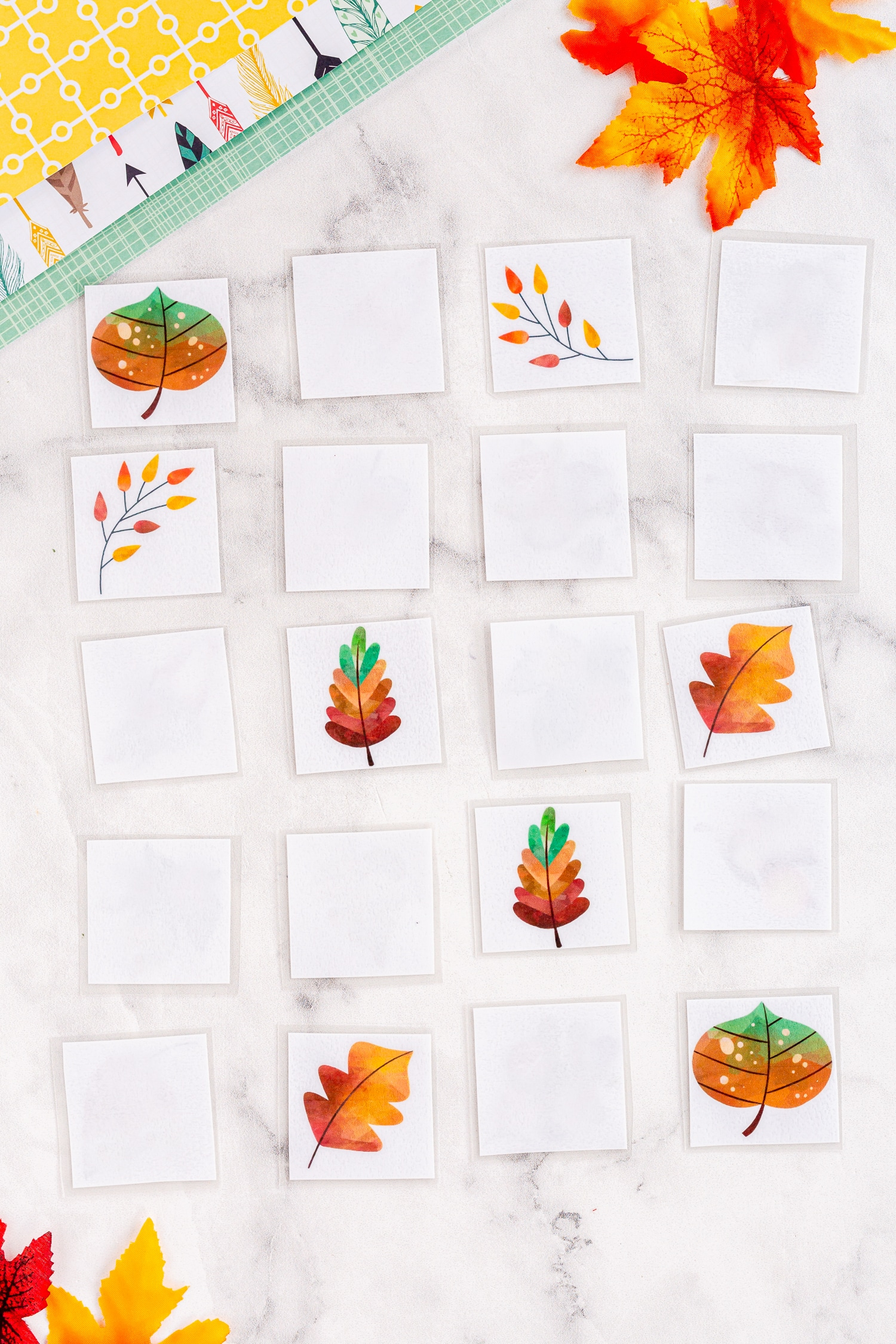 how to play leaf matching game