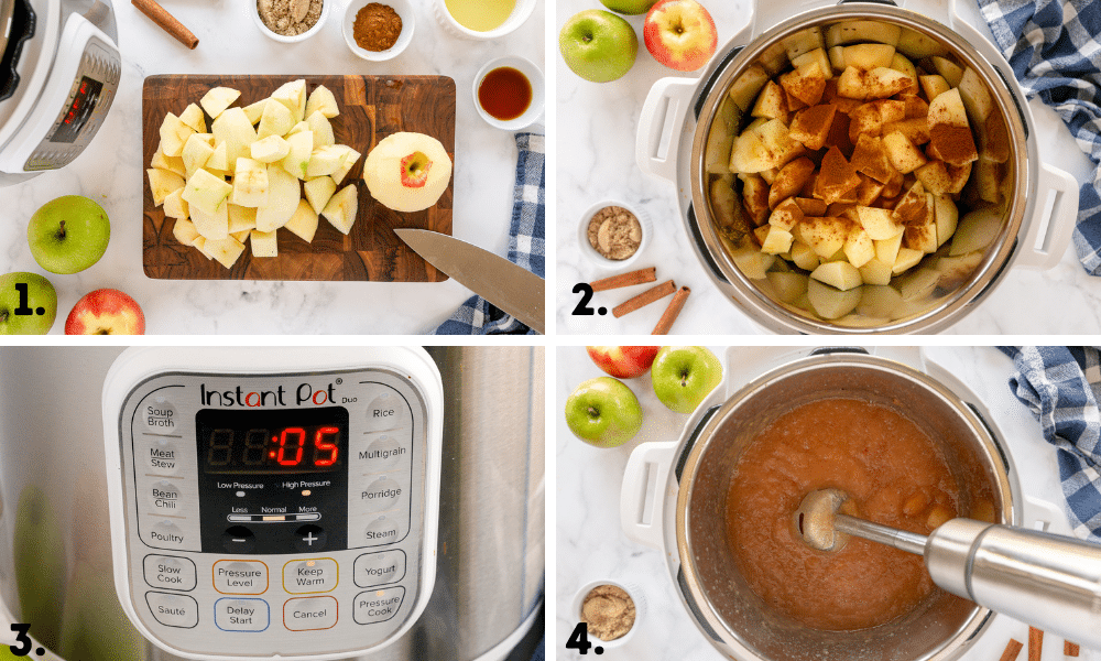 process pics for making applesauce